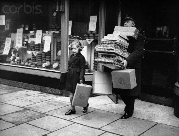 Girl Christmas Shopping